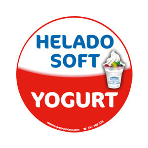 helado soft yogurt decoración
