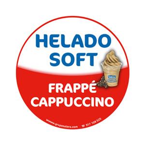 Helado soft frappé cappuccino