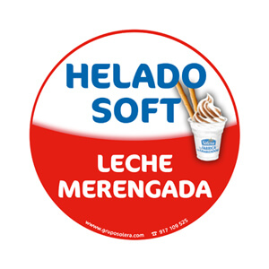 Helado soft leche merengada decoración
