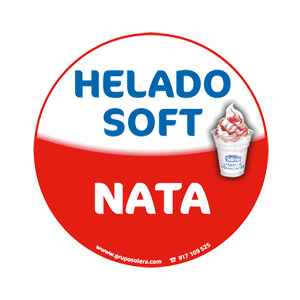 Helado soft nata decoración