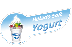 Banda helado soft yogurt decorativa