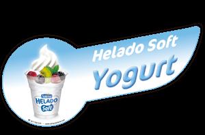 Banda helado soft yogurt decorativa