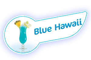 Banda coctel blue hawaii