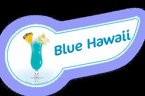 Banda coctel blue hawaii