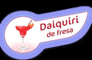 Banda coctel daiquiri fresa