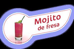 Banda coctel mojito fresa