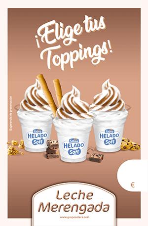 Cartel helado soft merengada