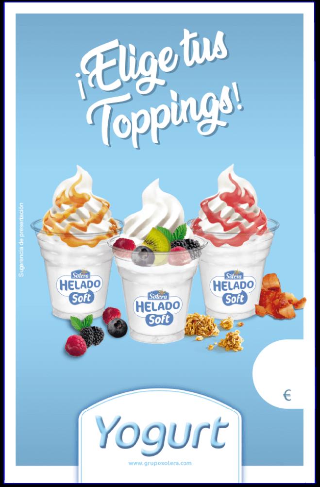 Cartel helado soft yogurt