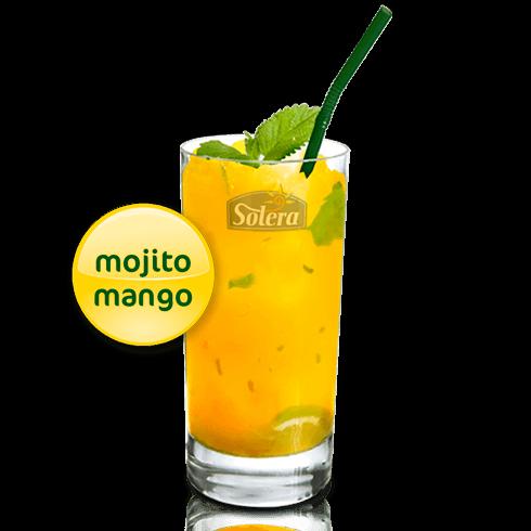 Cóctel mojito de mango Solera