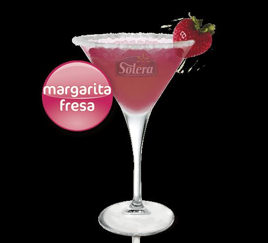 Cóctel margarita de fresa Solera