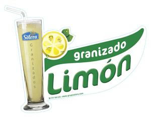 Cartel granizado limón