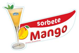 Cartel sorbete mango