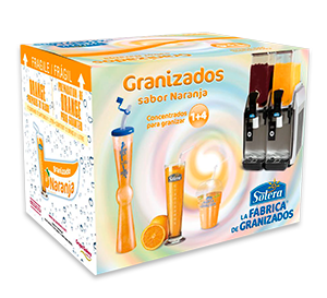 caja granizado de naranja