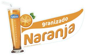 Cartel Granizado naranja