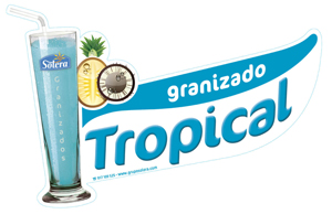 Cartel granizado tropical
