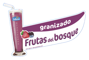 Cartel depositos frutas del bosque