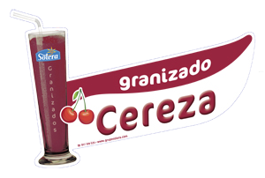 Cartel depositos granizados cereza