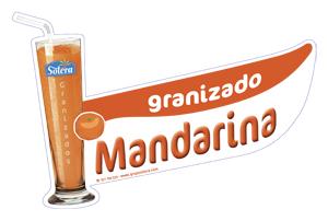 Cartel depositos granizados mandarina