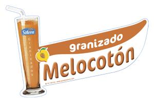 Cartel depositos granizados melocoton