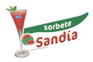 Cartel depositos sorbetes sandia